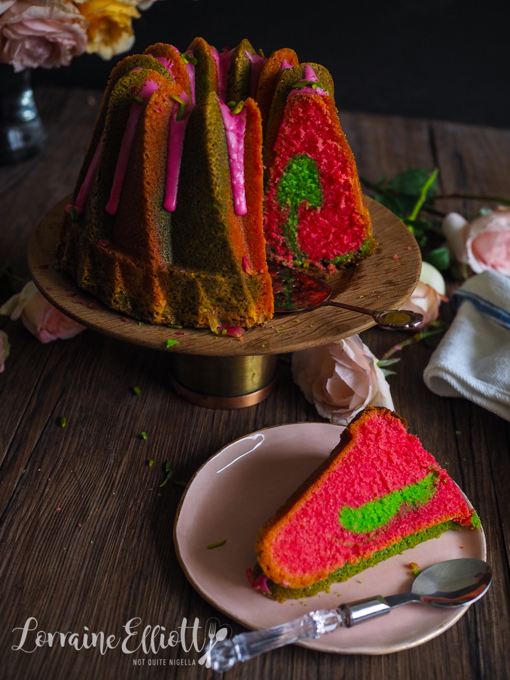 Two Toned Bundt Cake