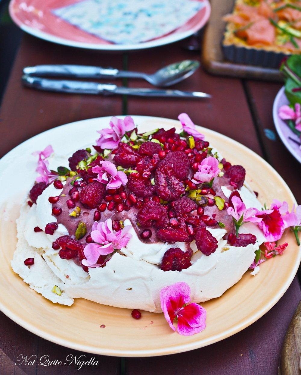 Rose Strawberry Chiffon Cake