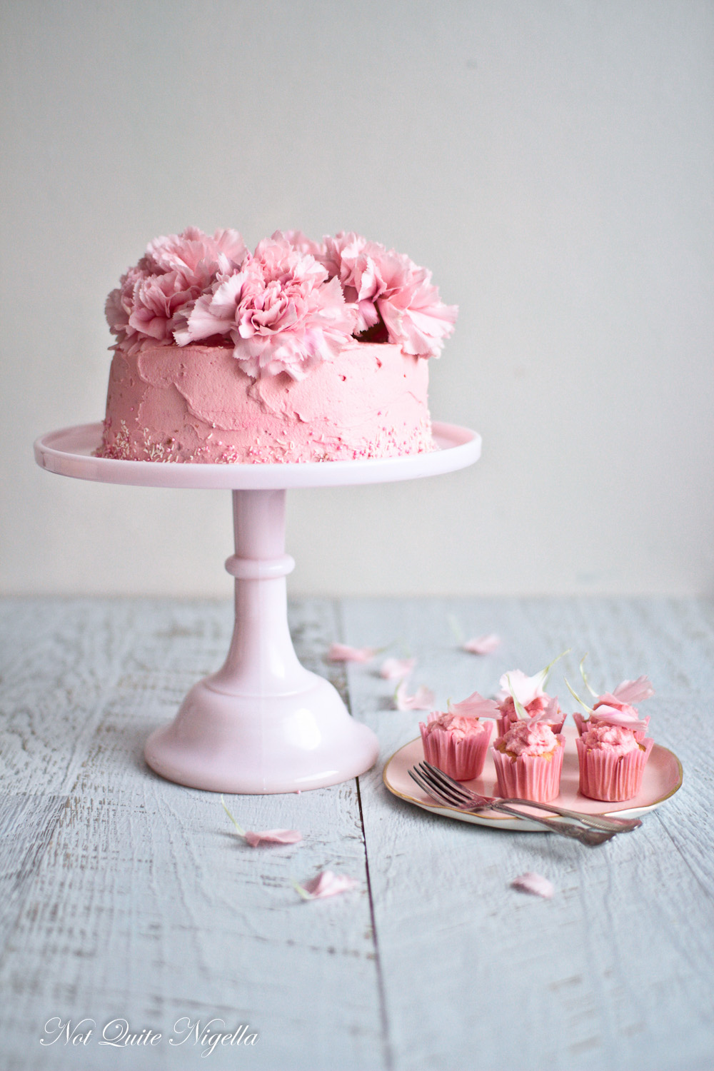 Rose Strawberry Chiffon Cake