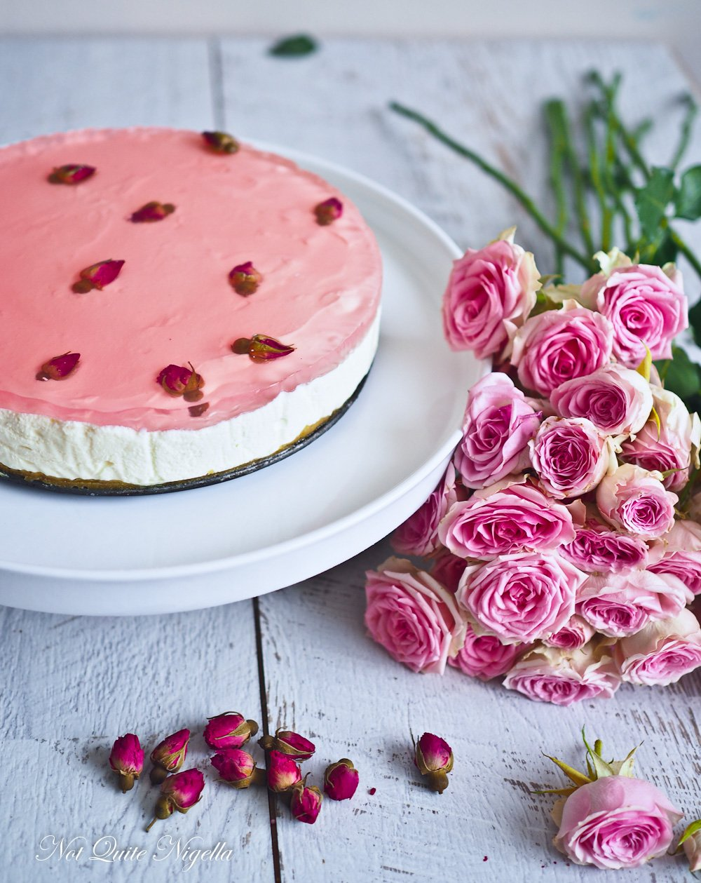 Rose Turkish Delight Cheesecake