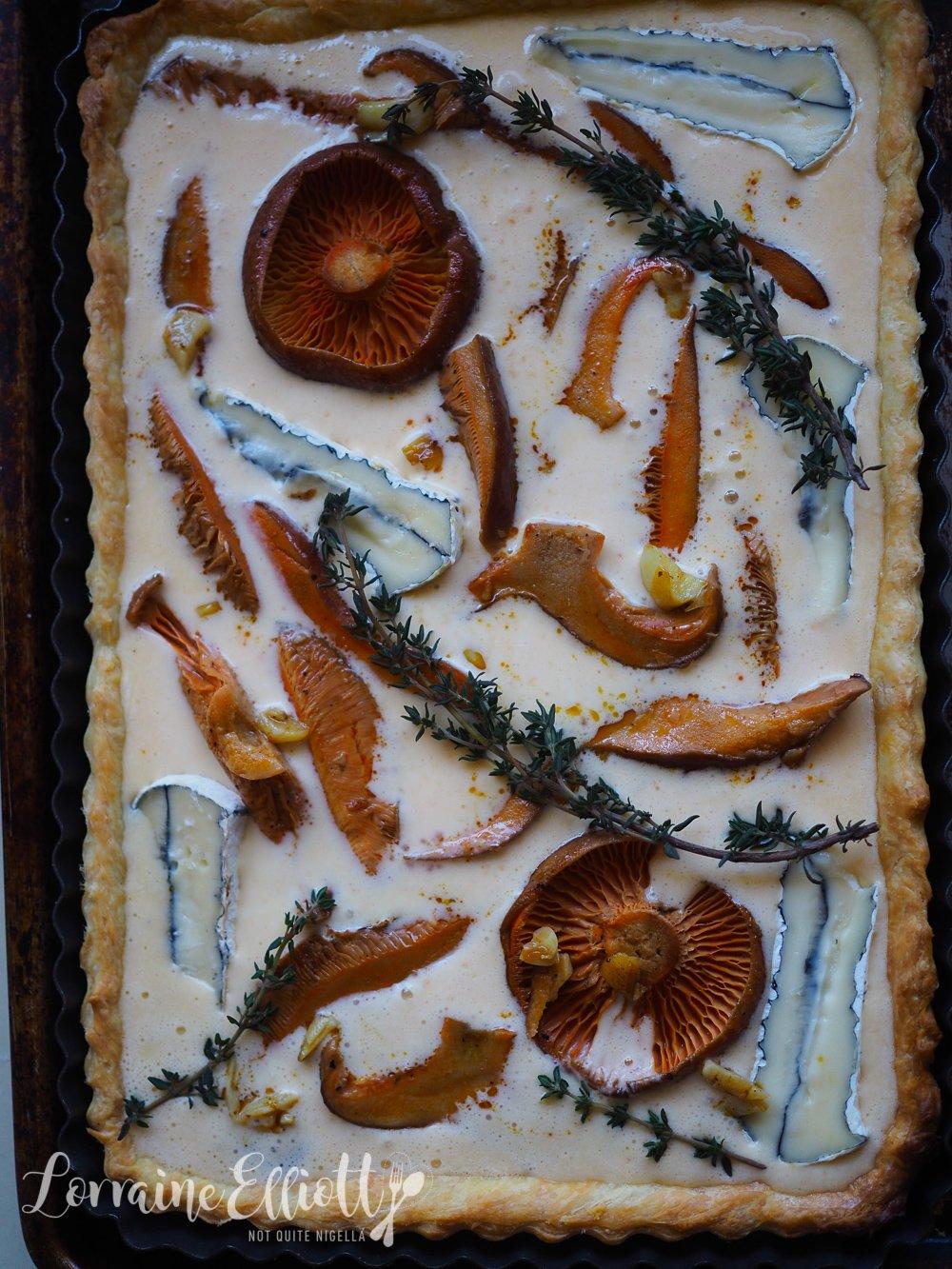 Saffron Milk Cap Mushroom Tart