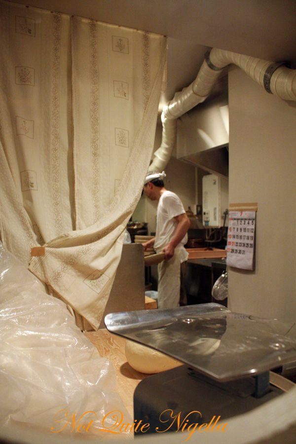 Sakata Udon Hibiya Tokyo making udon