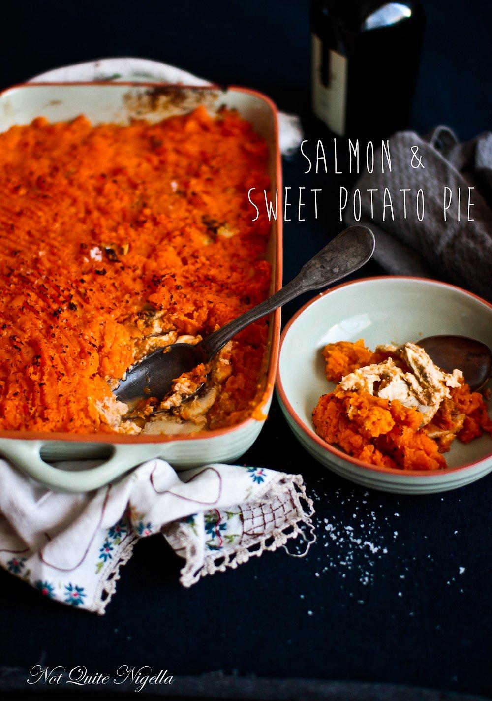 Salmon Sweet Potato Pie