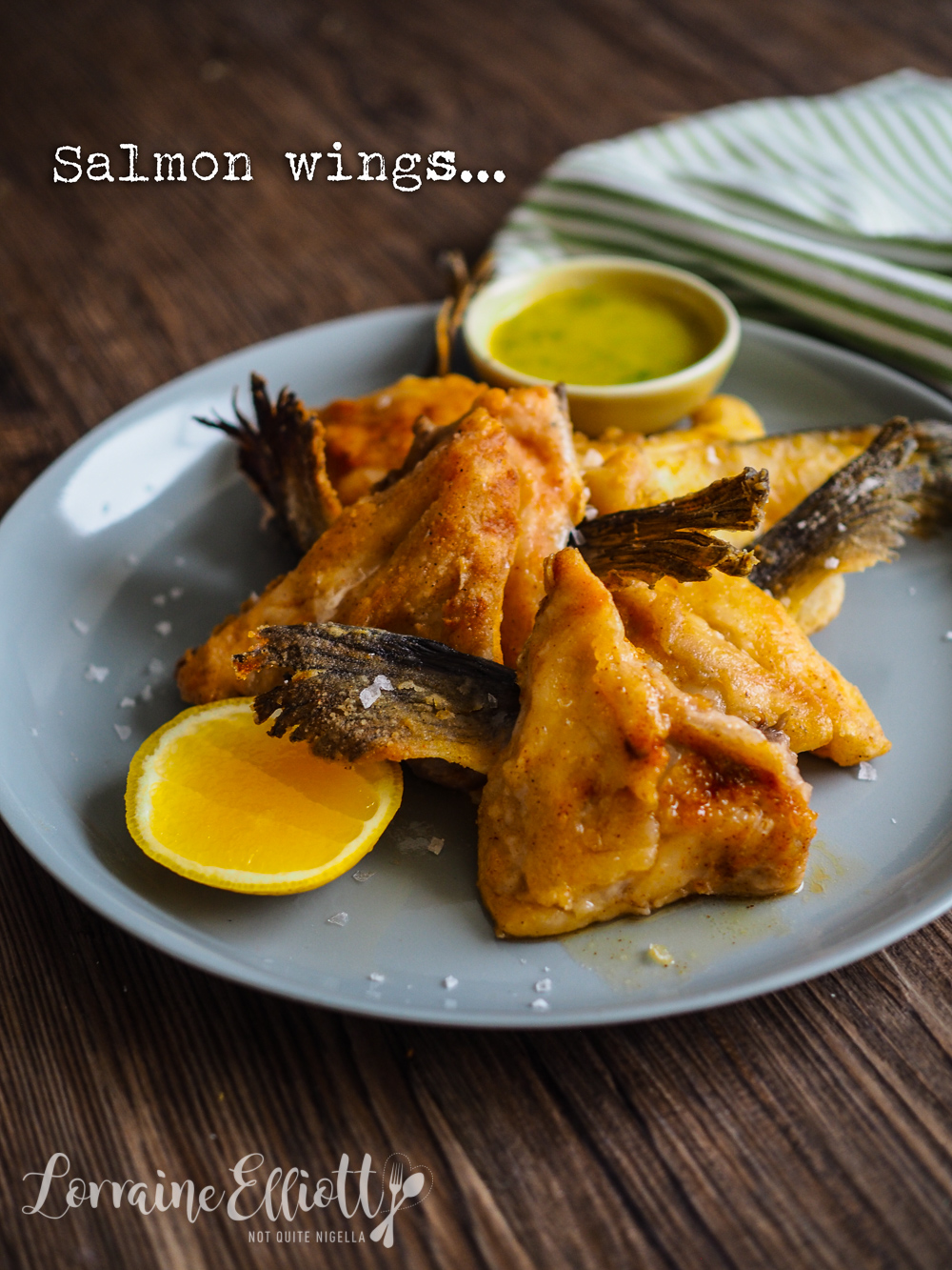 Salmon Wings recipe