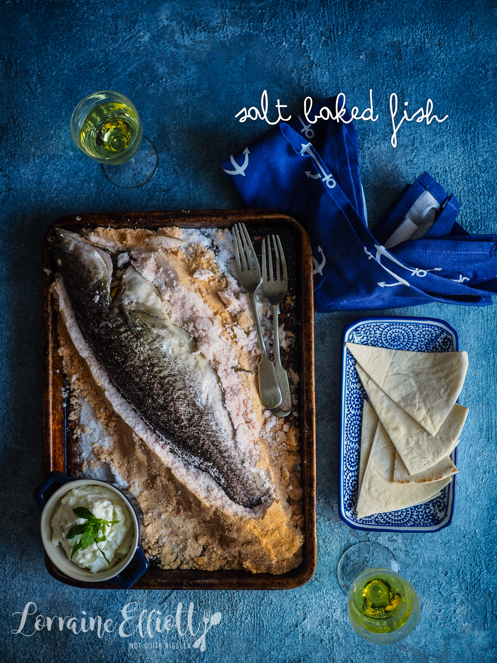 Whole Salt Baked Fish