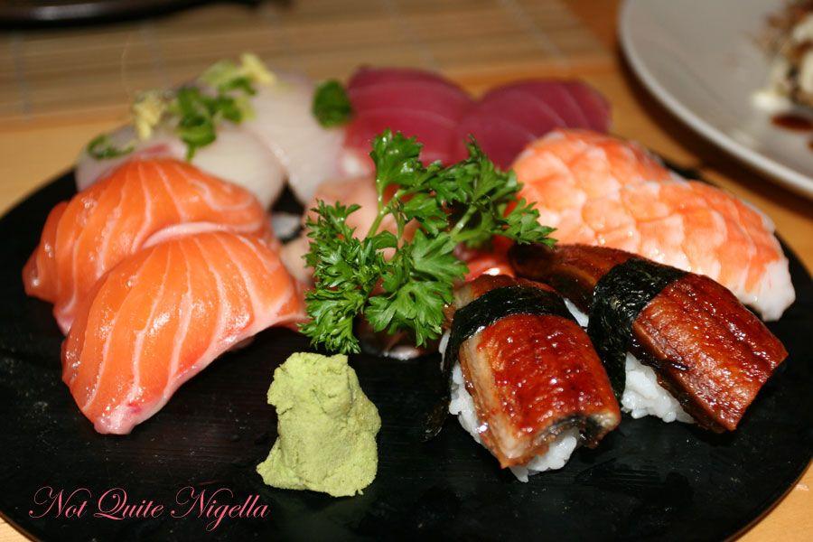 Samurai Japanese Cafe at Balmain-assorted sushi