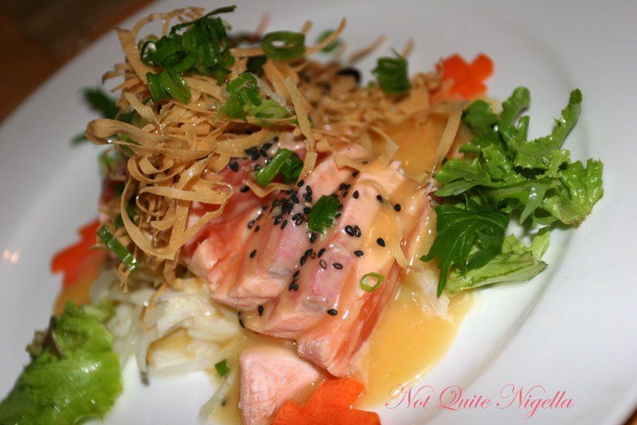 Samurai Japanese Cafe at Balmain- Salmon tataki