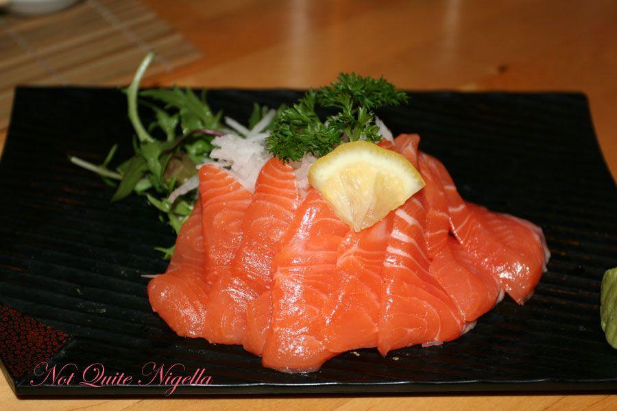 Samurai Japanese Cafe at Balmain- Salmon Sashimi