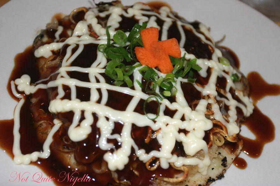 Samurai Japanese Cafe at Balmain- vegetarian okonomiyaki