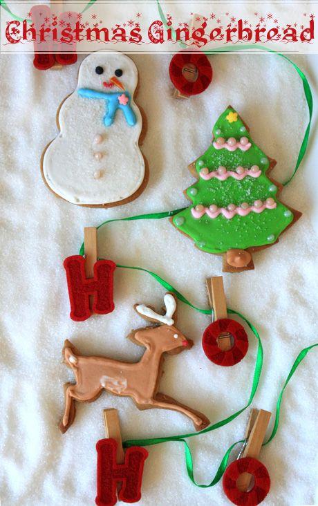 santa reindeer tree christmas gingerbread cookies 1