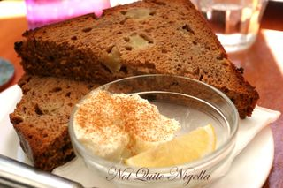 Sappho Books Courtyard Cafe Apple cinnamon bread