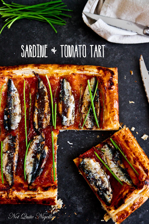 Sardine Tomato Tart