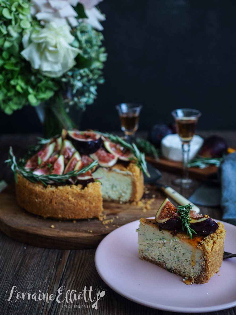 Brie and Chive Savory Cheesecake