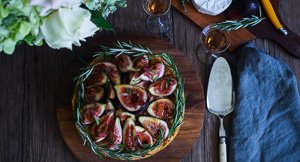 Say Cheese: Brie and Chive Baked Cheesecake Topped With Figs!