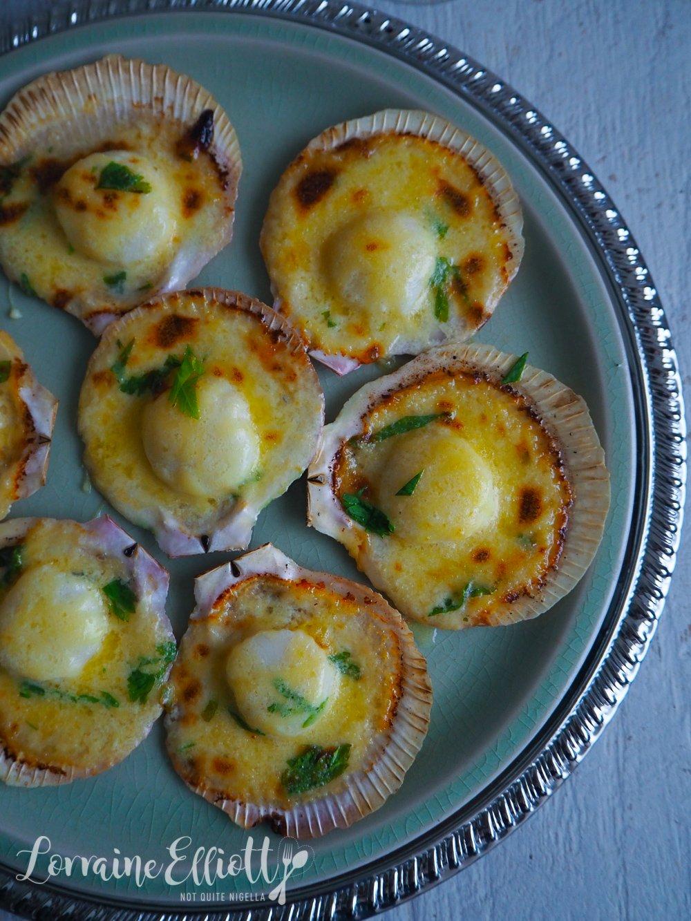 Easy Garlic Parmesan Cream Scallops