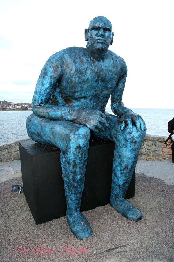 Sculpture by the sea Blue Man