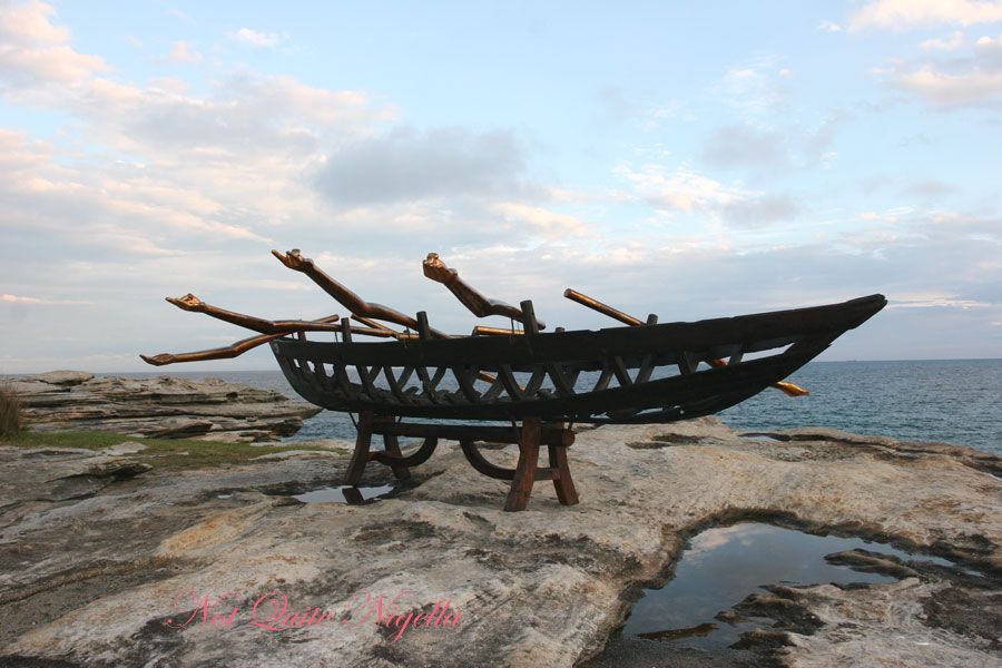 Sculpture by the sea Boat Hull