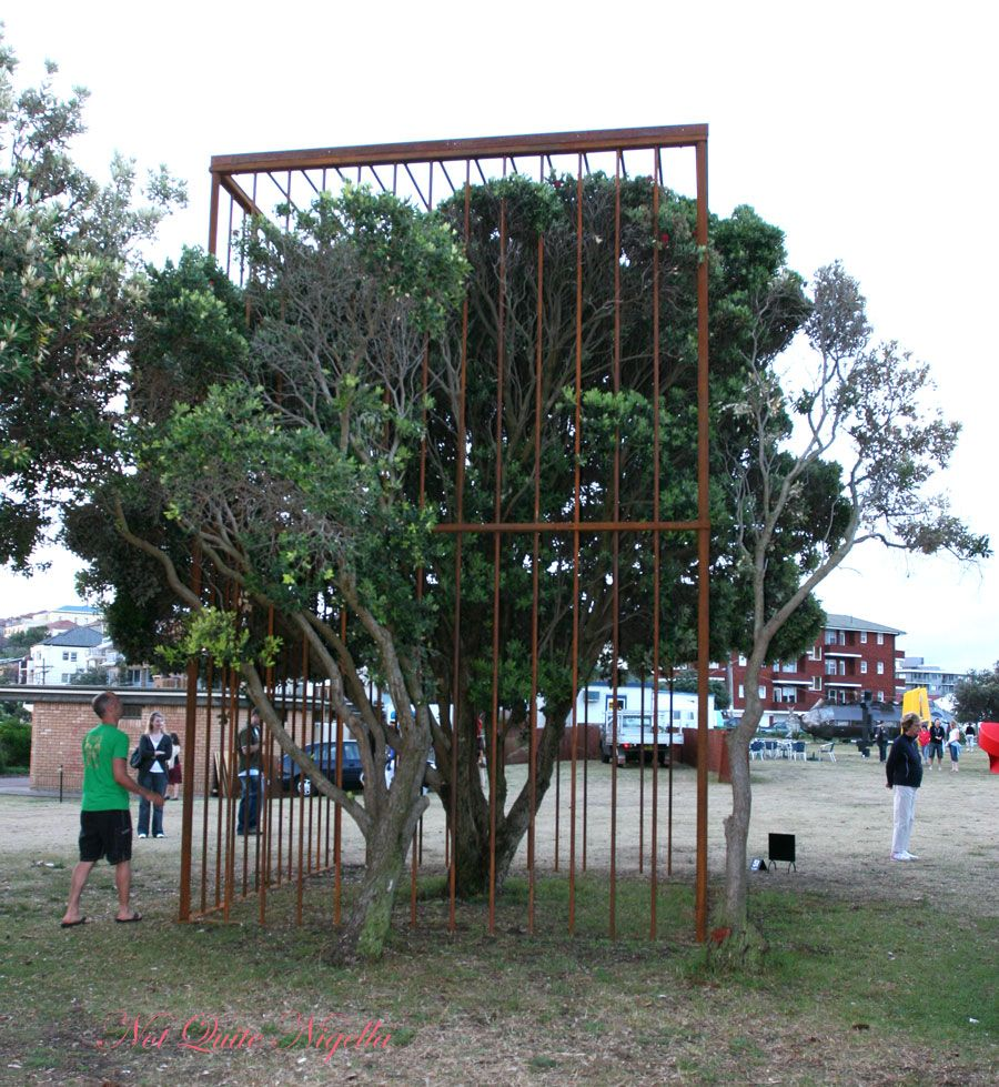 Sculpture by the sea Caged tree