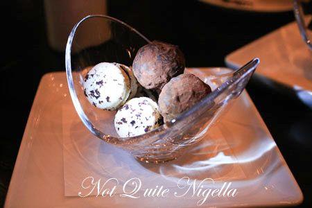 sepia restaurant truffle macaron 1