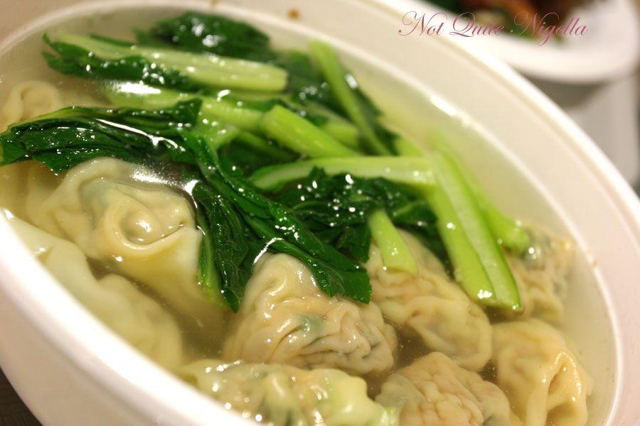 Shanghai Gourmet at the Mandarin Centre Chatswood Pork vegetable won ton soup