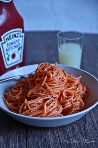 sketti butter ketchup