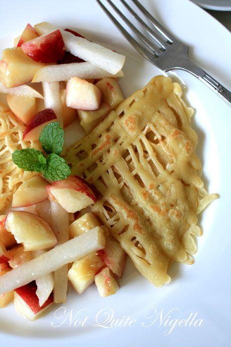 coconut lace pancakes 4