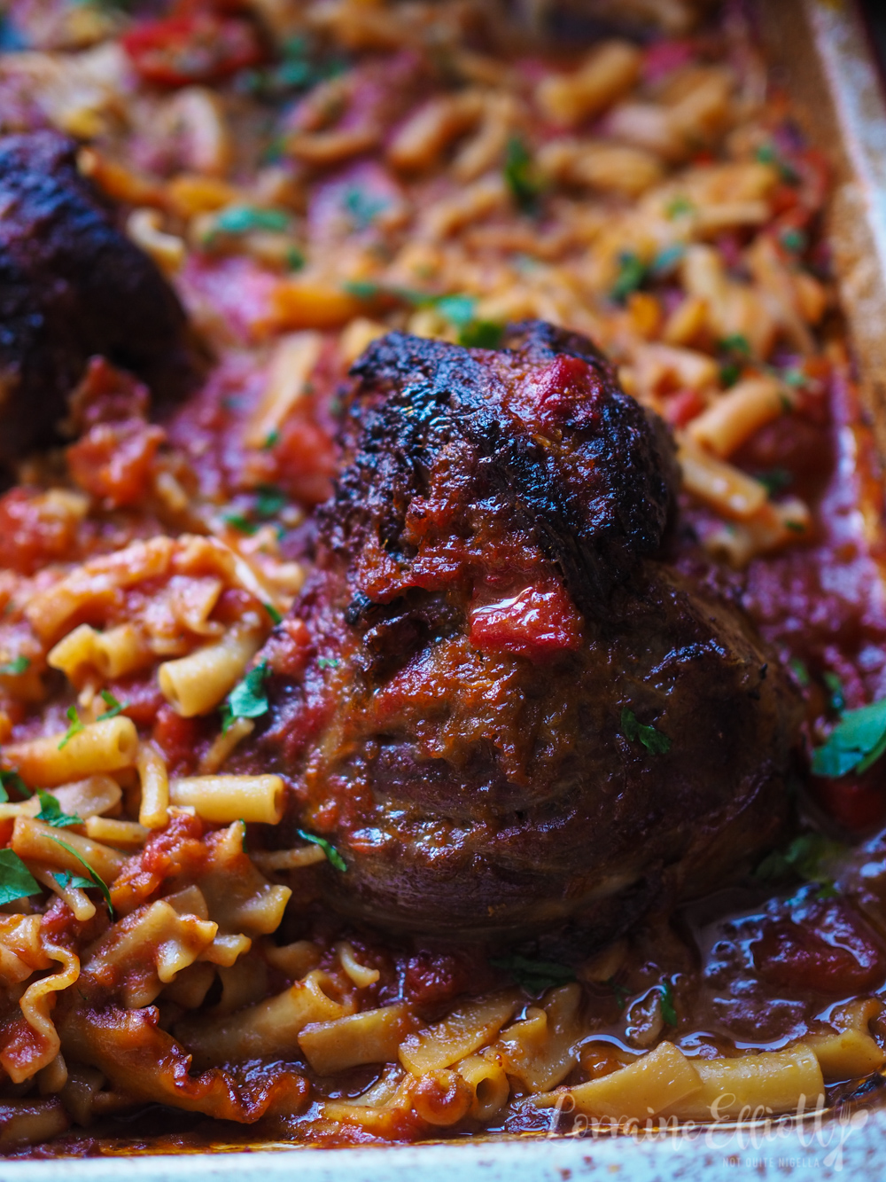 Slow Cooked Greek Lamb Shanks Giouvetsi
