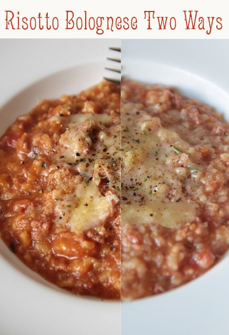 Slow Cooker & Pressure Cooker Risotto Bolognese