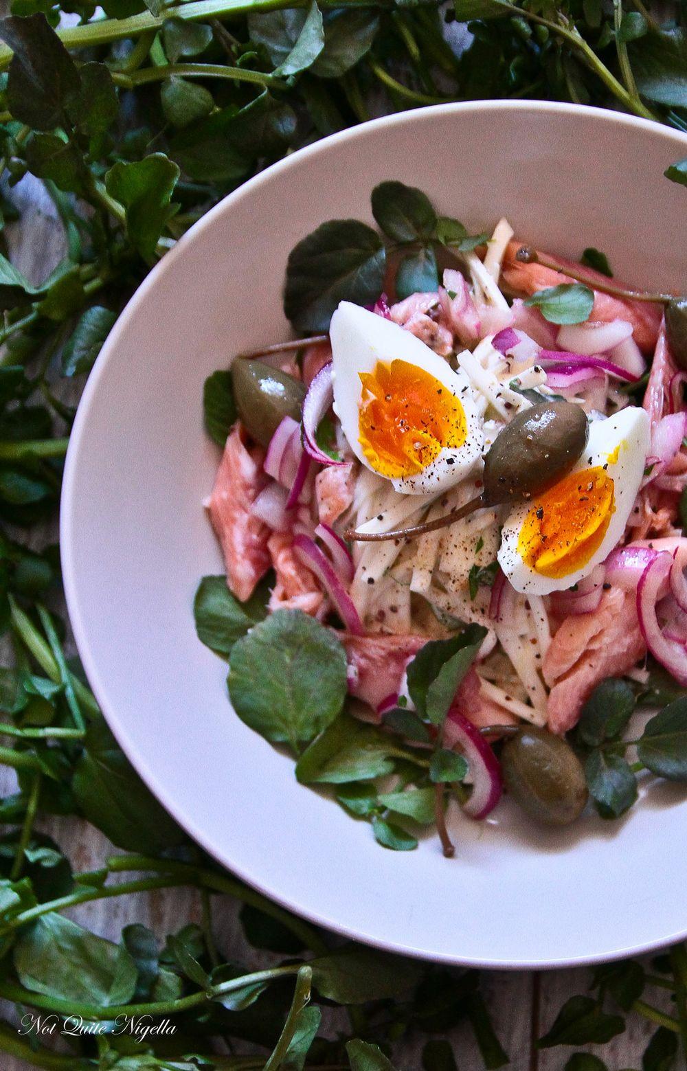 Smoked Trout, Celeriac & Watercress Salad