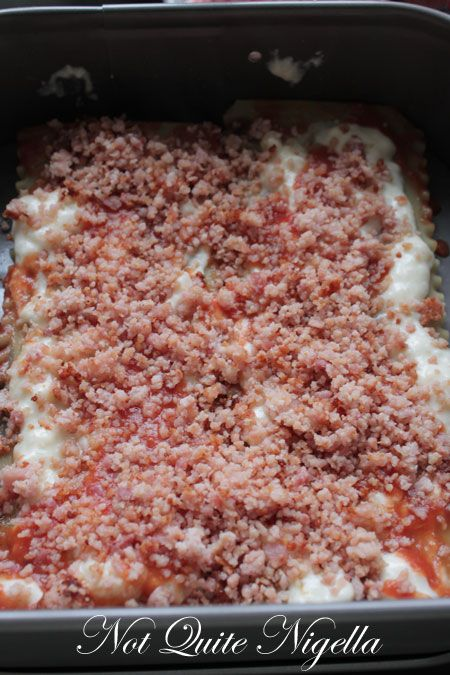 bacon lasagne recipe