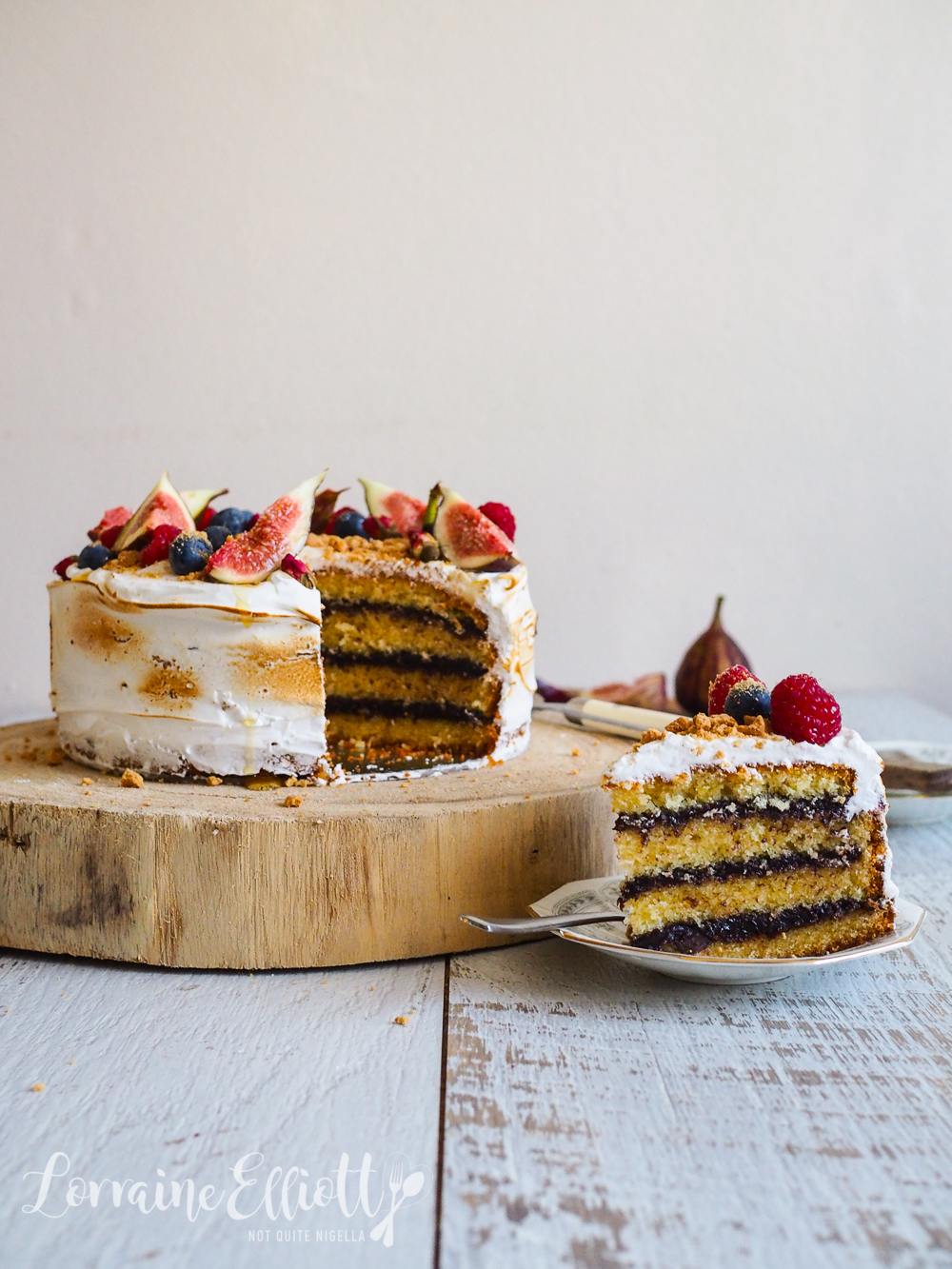 Toasted Marshmallow S'mores Cake