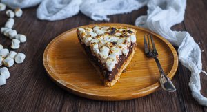 That S'more! Easiest No Bake Peanut Butter S'Mores Pie!