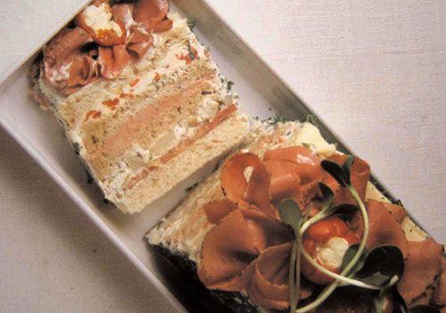 Smörgåstårta-Swedish Sandwich cake