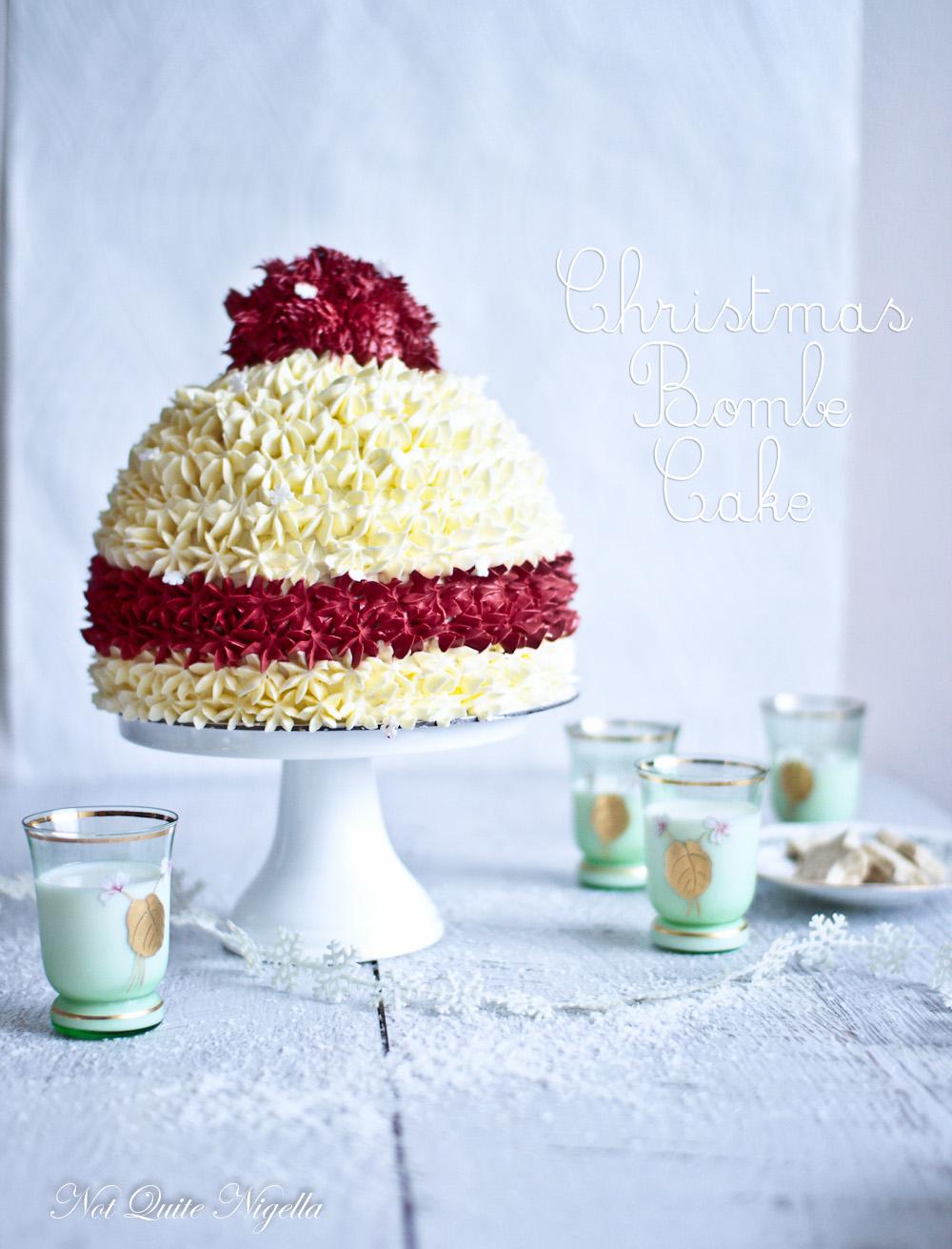 Cherry ripe Snow Beanie Christmas Cake