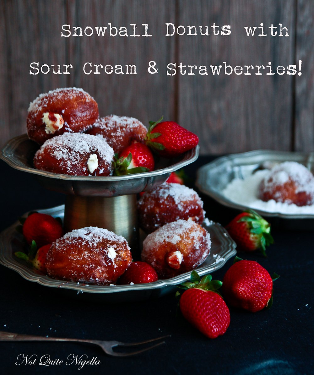 Yeasted Donut Jam Sour Cream