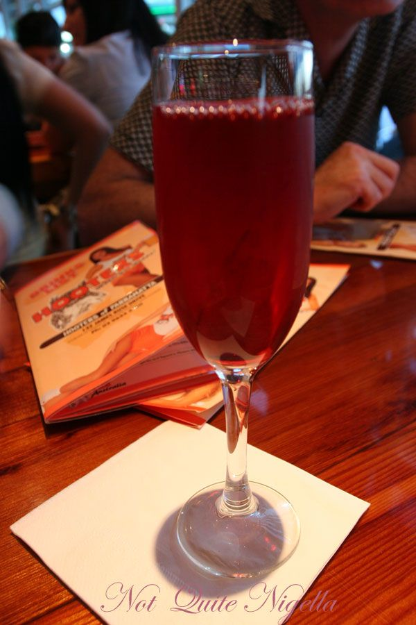 Hooters Cranberry cocktail