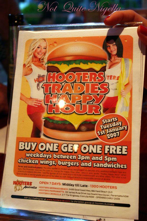 Hooters Tradies Happy hour