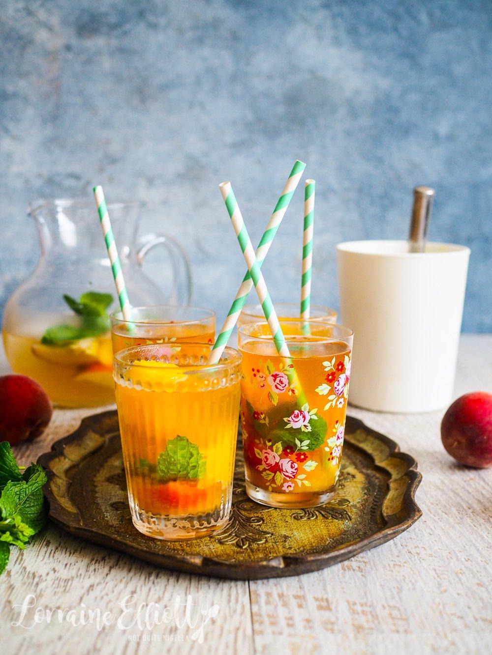 Peach Sorbet Iced Tea