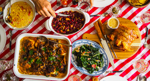 A Southern American Smothered Yardbird Feast!