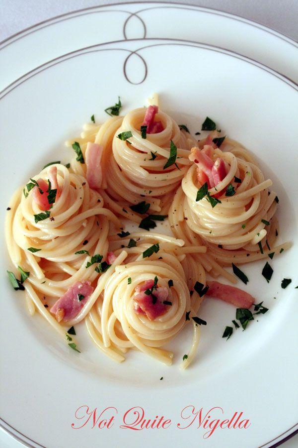 Spaghetti con Sugo Carbonara e Gorgonzola