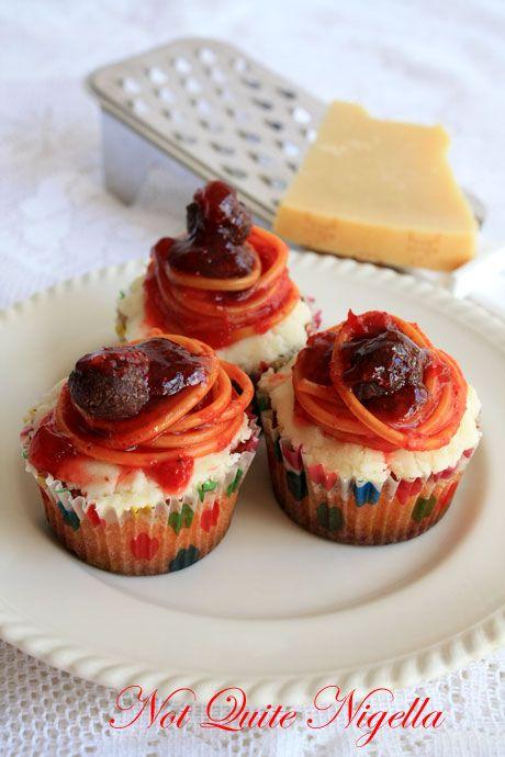 spaghetti meatball cupcakes 2