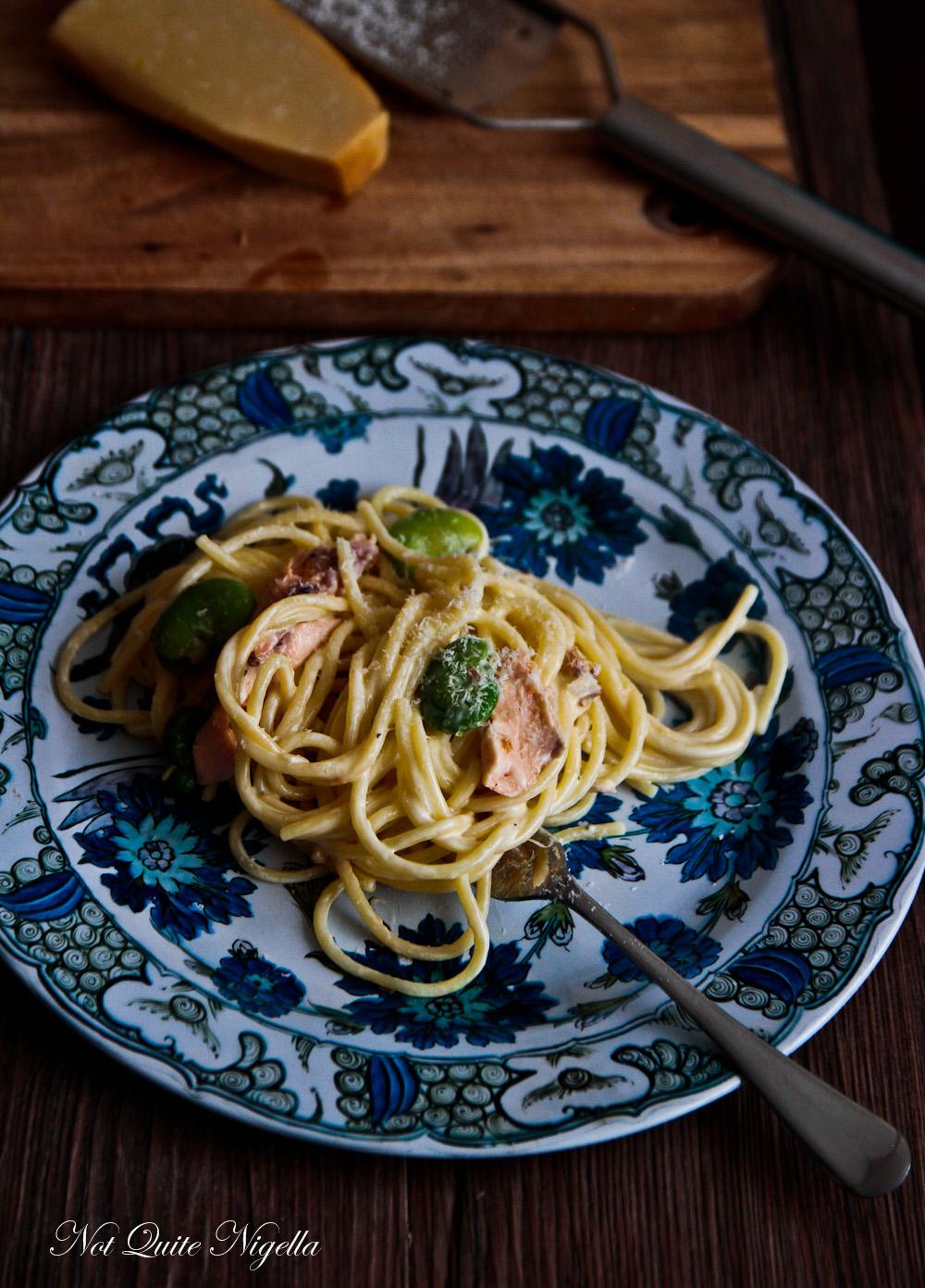 Spaghetti Smoked Trout