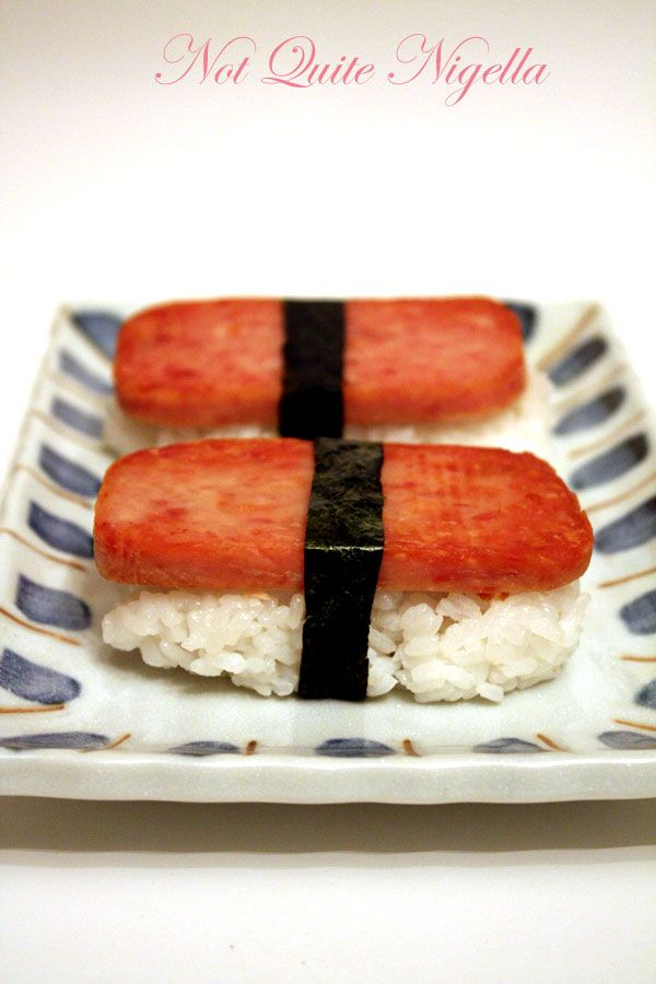 Giant SPAM sushi and SPAM Sushi roll