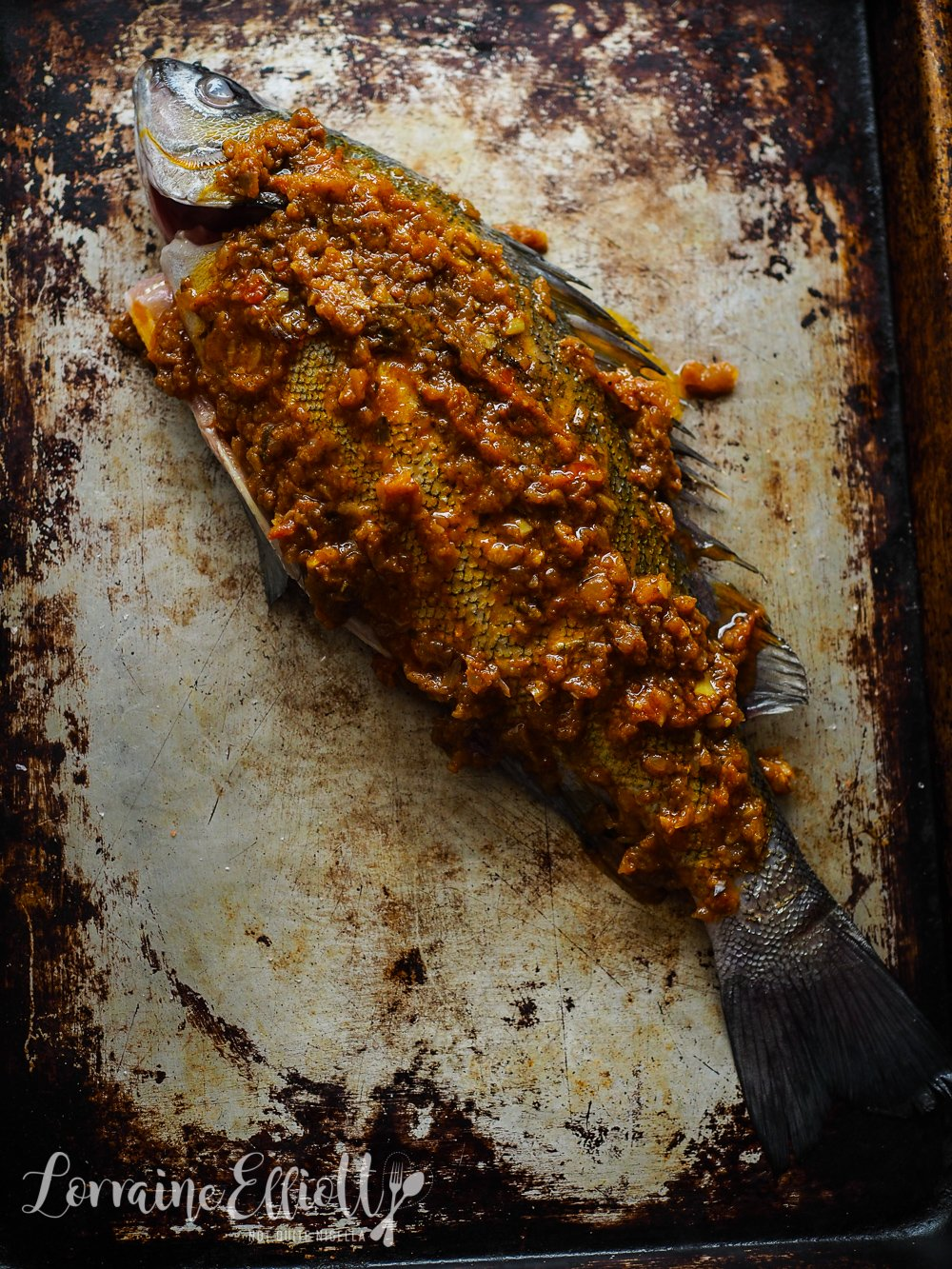 Spiced Whole Baked Fish
