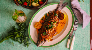Spiced Whole Baked Fish & My Cooking Class!