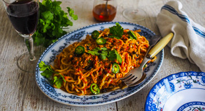 The Infinitely Adaptable Spicy Asian Any Mince Noodles!