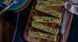 Pie-Rate! Spinach Halloumi & Feta Pie