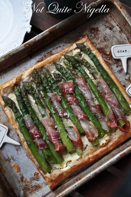 Springtime Asparagus & Prosciutto Tart