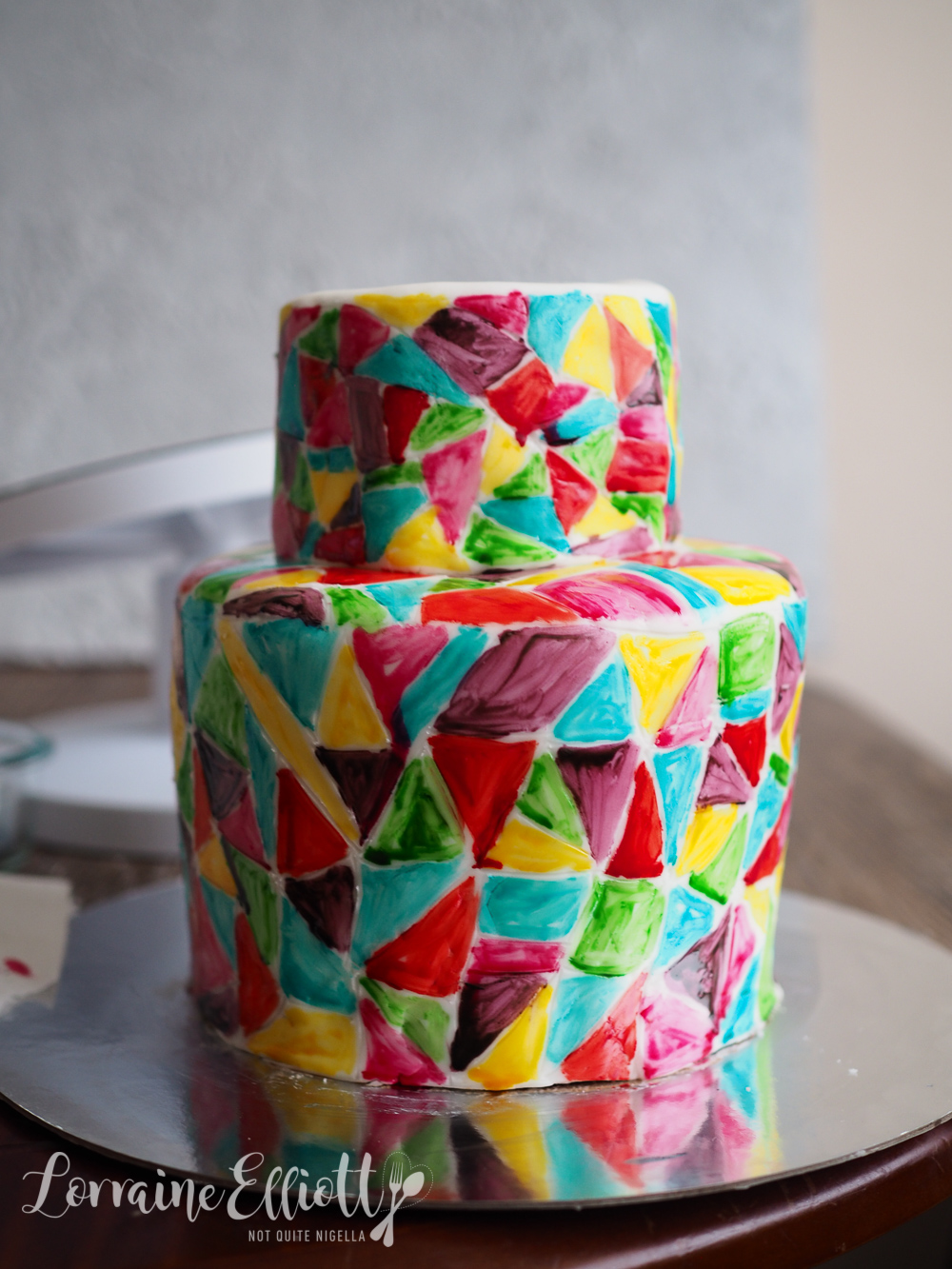 Stained Glass Pattern Cake