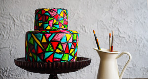 Through The Looking Glass! A Stained Glass Cake